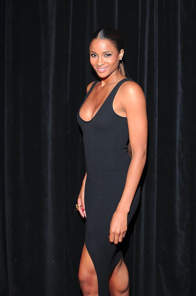Ciara showed some skin at the Givenchy party.