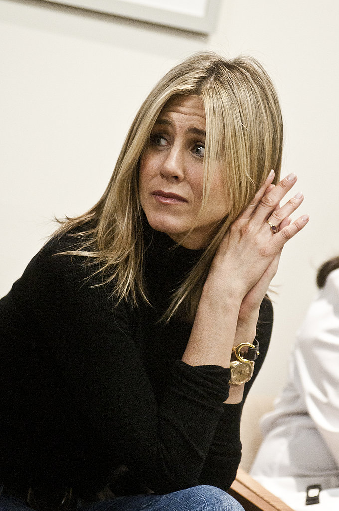 Jennifer Aniston was visibly moved by the women's stories.