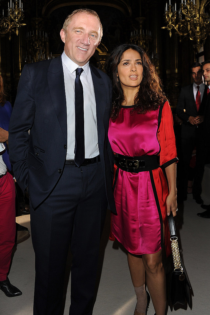 Salma Hayek and Francois-Henri Pinault continued their fashion week trip.