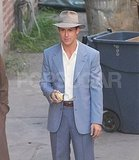 Ryan Gosling took a break between scenes of The Gangster Squad.