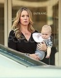 Christina Applegate carried her baby, Sadie LeNoble, off the set of Up All Night.