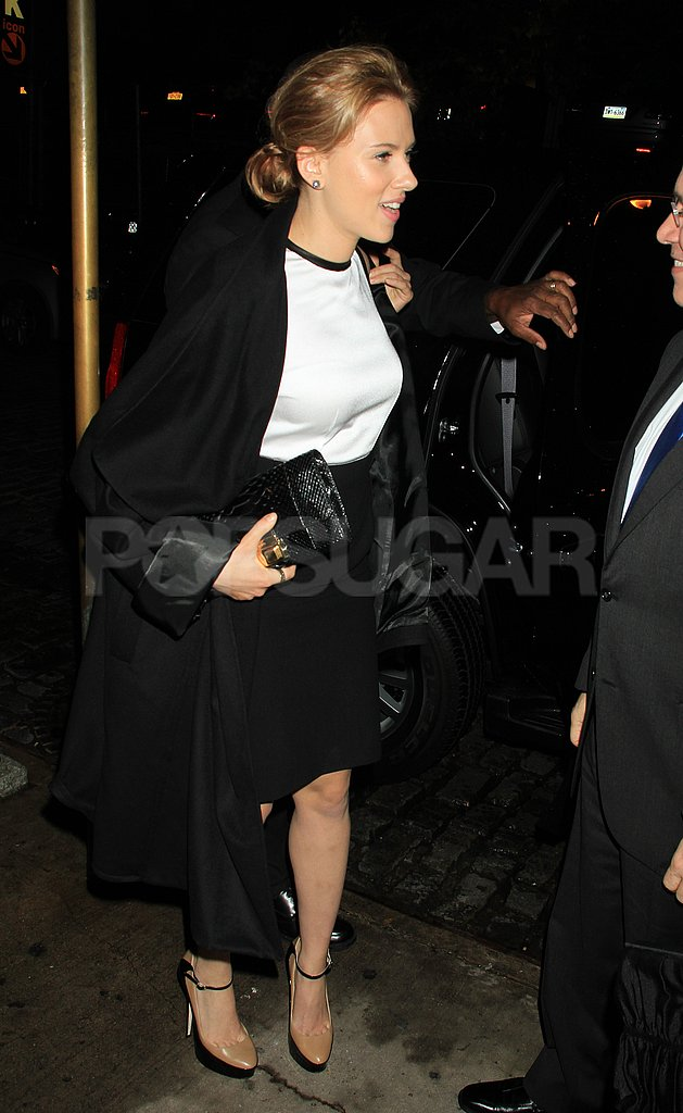 Scarlett Johansson heading home after an event in NYC.