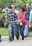 Selena Gomez and Justin Bieber were surprised by the wind in Rio de Janeiro.
