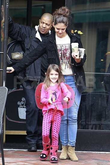Suri Cruise Gets a Head Start on Halloween in Her Lady Bug Costume While in PA With Katie Holmes
