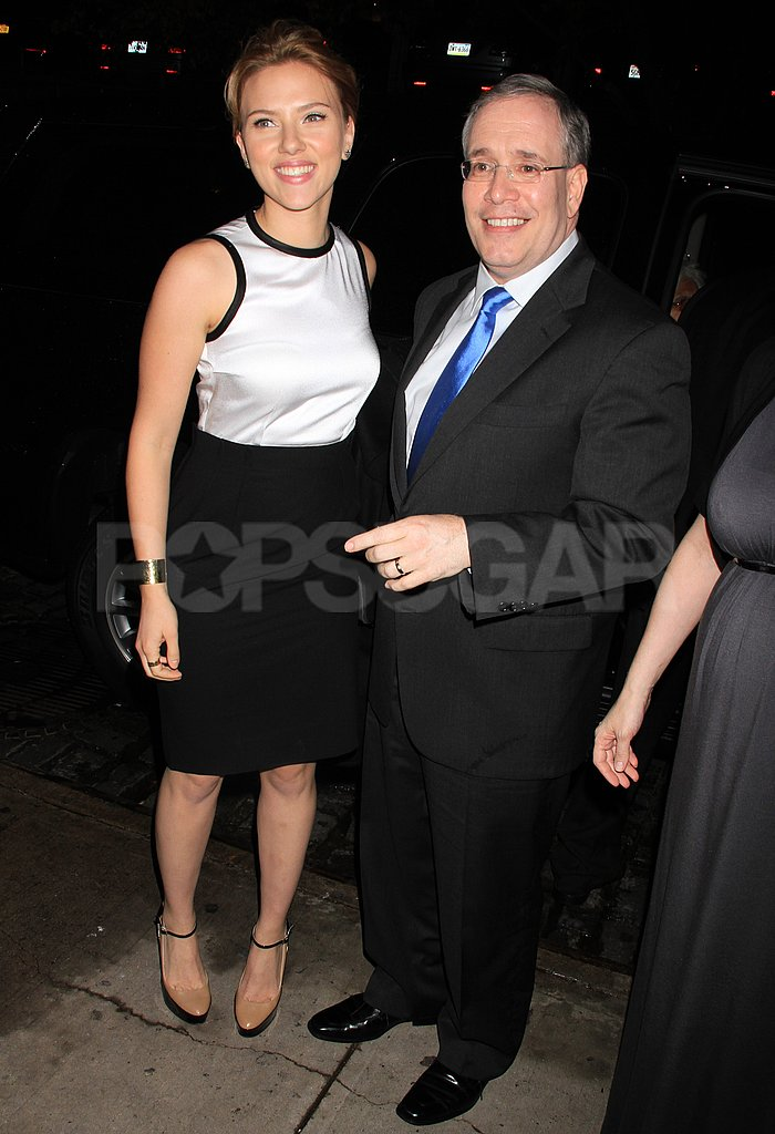 Scarlett Johansson posed with NYC mayoral candidate Scott Stringer.