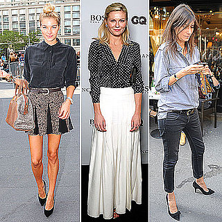 Celebrities Wearing Button Down Shirts Fall 2011