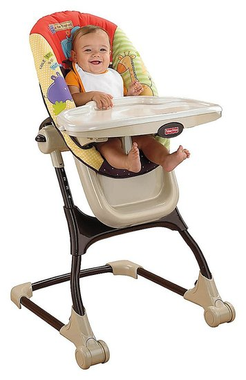 fisher price ez clean high chair tan circles 2