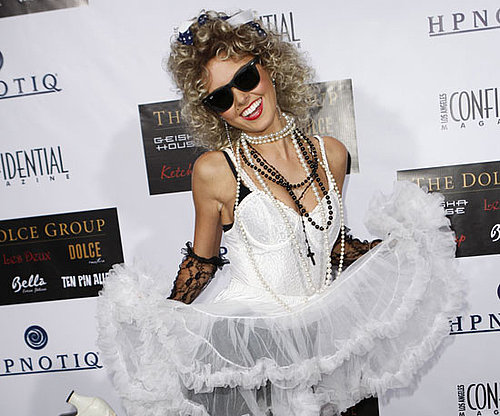 Audrina Patridge showed up to a 2007 party in LA dressed as The Material Girl.