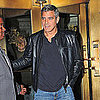 George Clooney Leaving Hotel in NYC Pictures