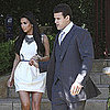 Kim Kardashian and Kris Humphries Leaving LA House Pictures