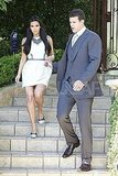 Kim Kardashian and Kris Humphries headed to a TV appearance together.