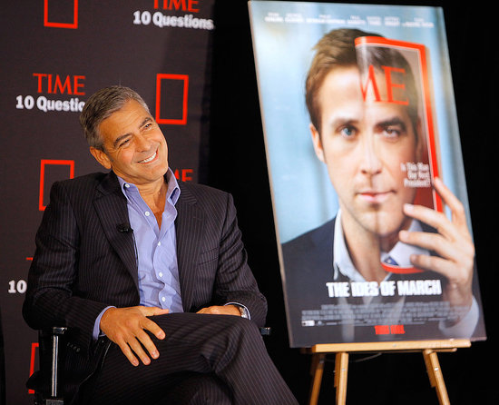 George Clooney was the subject of a talk for Time magazine.
