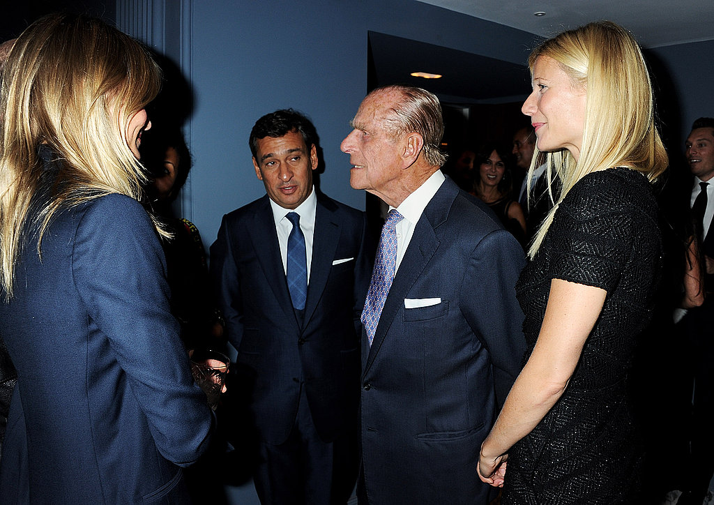 Cameron and Gwyneth chatted with HRH Prince Philip.