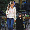 Katie Holmes and Suri Cruise Leaving Starbucks Pictures