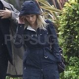Reese Witherspoon in her rain jacket in LA.
