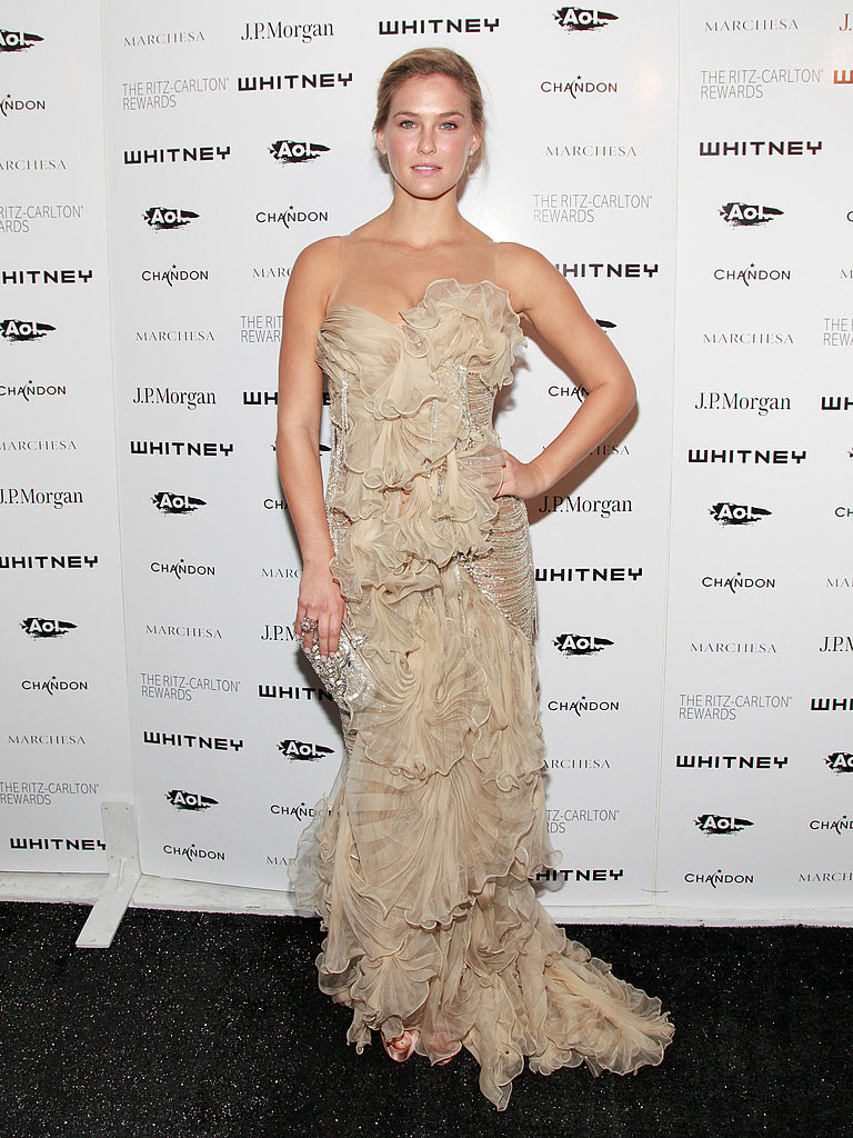 Bar Refaeli took a spin on the red carpet at the 2011 Whitney Gala.