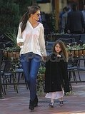 Katie Holmes and Suri Cruise had mother-daughter time in Pittsburg.