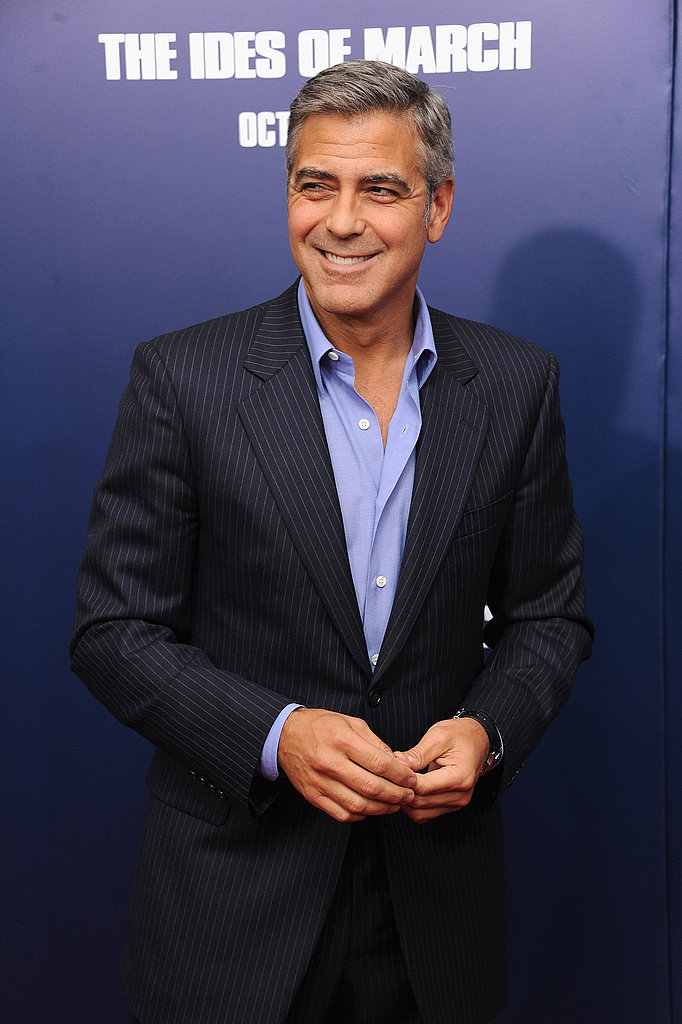 George Clooney smiled at the premiere of The Ides of March in NYC.