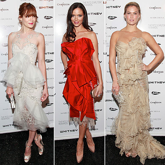 Pictures of Bar Refaeli, Michelle Monoghan and Georgina Chapman in Marchesa at the Whitney Museum Gala: Who Was Best Dressed?