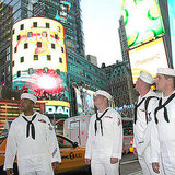 Sailors checked out Times Square during New York's Fleet Week 2011. Source: Flickr User usnavy