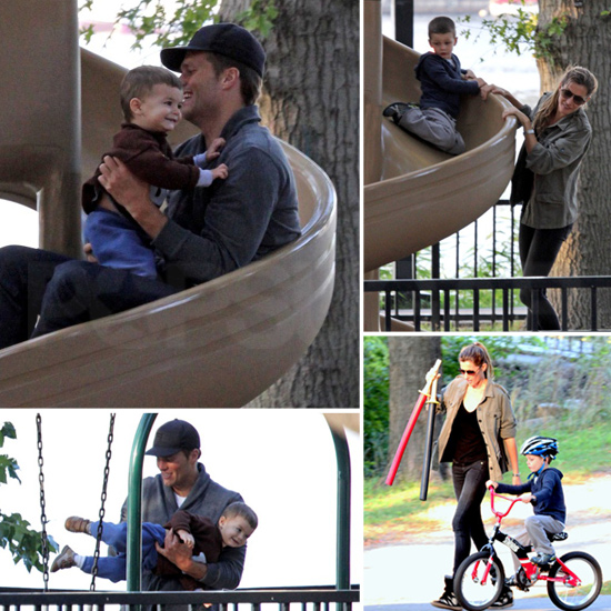 Tom Brady Hits the Slides With Gisele, Ben, and Bike-Riding Jack!