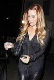 Lauren Conrad held onto her Blackberry.