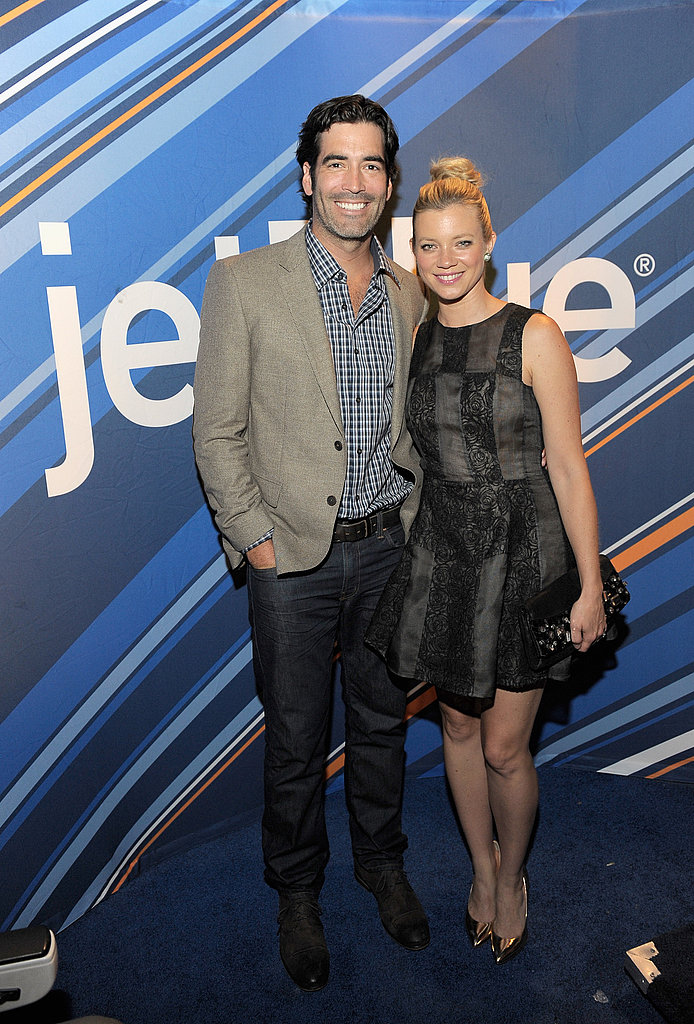 Just married Carter Oosterhouse and Amy Smart.