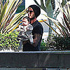 David Beckham Pictures With Harper Beckham in LA