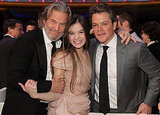 Matt posed with his True Grit costars Jeff Bridges and Hailee Steinfeld at the Critics Choice Awards in January 2011.