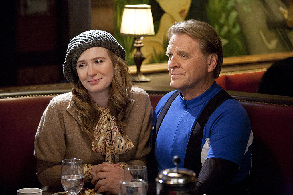 Halley Feiffer and David Rasche as Bernard on Bored to Death.  Photo courtesy of HBO