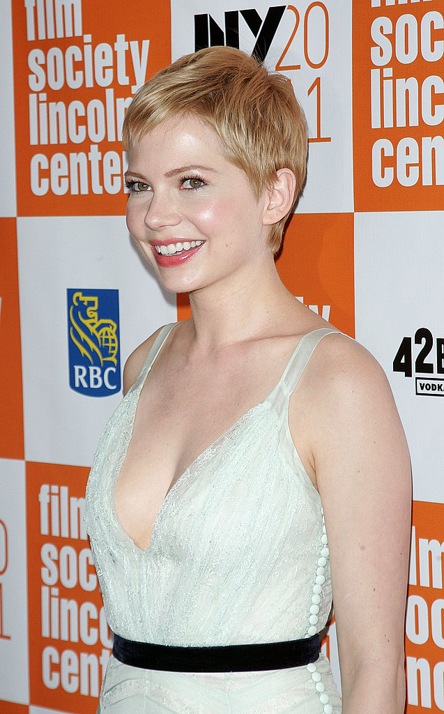 Michelle Williams had a big smile on for My Week With Marilyn.