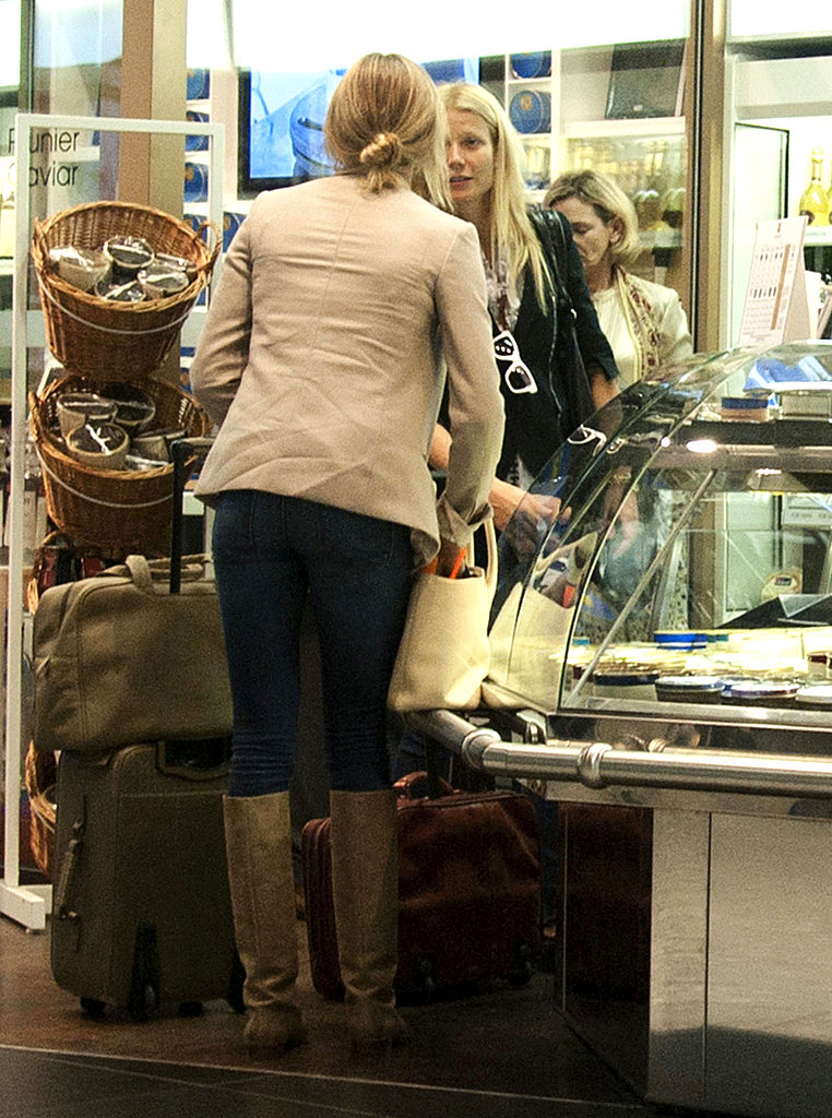 Cameron Diaz and Gwyneth Paltrow took a flight together out of Heathrow airport.