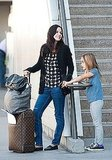 Courteney and Coco seemed in high spirits returning to LA.