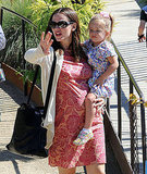 Jennifer Garner showed Seraphina Affleck the gardens at the Getty Center.