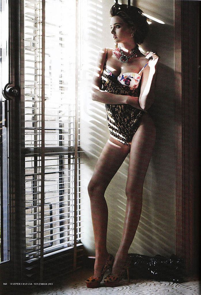 Miranda Kerr gazed out of a window for an Australian photo shoot.