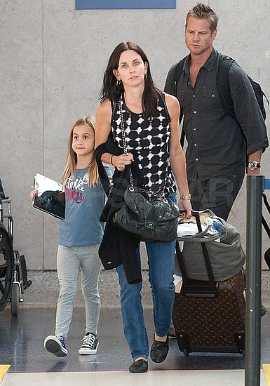 Courteney and Coco Return to LA With Cougar Town's Brian Van Holt