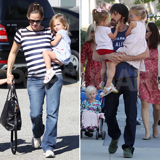 Ben Affleck and Jennifer Garner Get the Girls Ready For Halloween With Pumpkins
