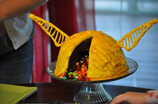Golden Snitch Cake