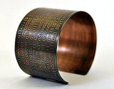Binary Copper Cuff ($50)