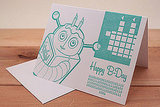 Robot Binary Birthday Card ($6)