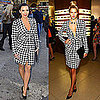 Kim Kardashian in Salvatore Ferragamo Houndstooth Dress