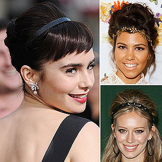 Hair Trend Alert: Headbands and Volume as Seen on Lily Collins and Kourtney Kardashian