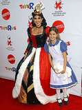The Queen of Hearts Teri Hatcher dressed to the nines as Alice in Wonderland's lady villain.