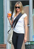 Cameron Diaz carried a crossbody bag after a workout.