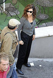 Penelope Cruz took direction on the set of Venuto al Mondo.