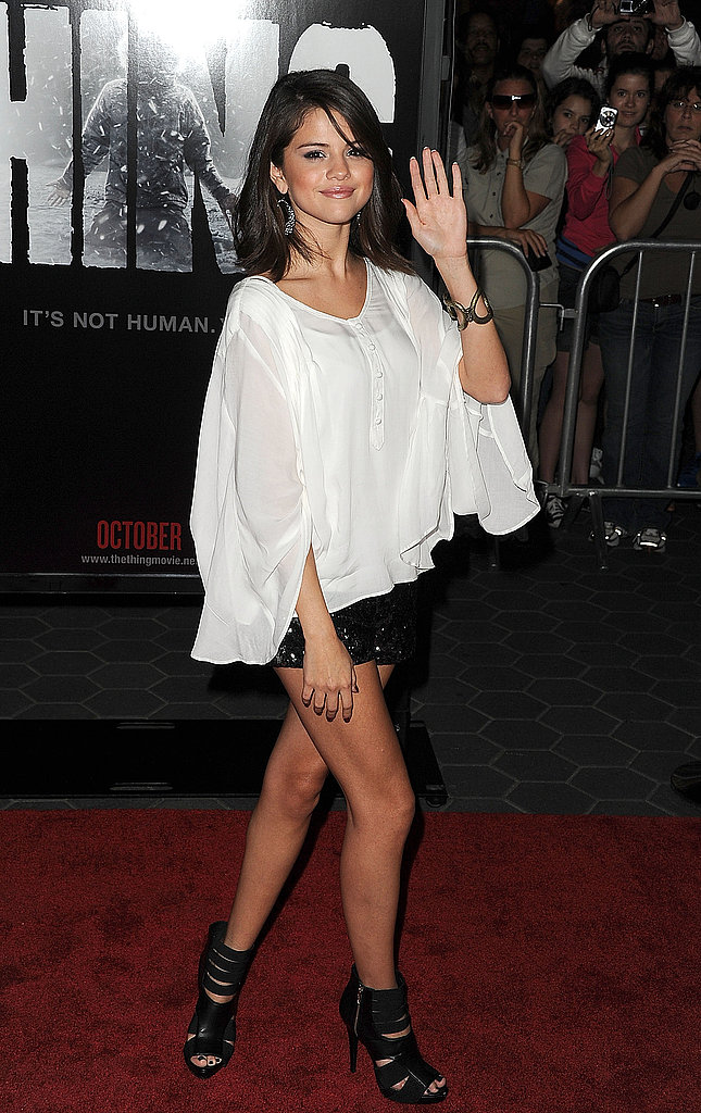 Selena Gomez at the premiere of The Thing in LA.