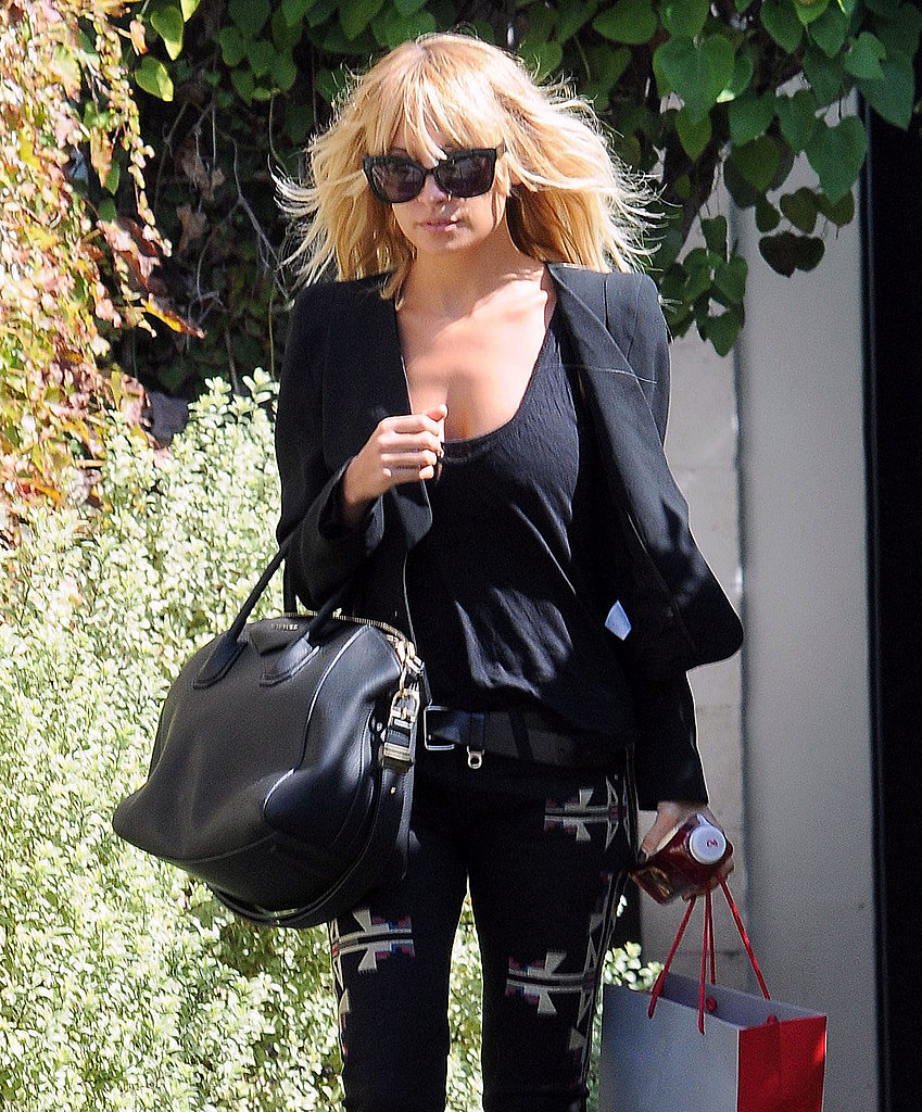 Nicole Richie got her hair done in LA.