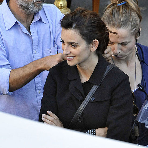 Penelope Cruz Pictures Shooting Venuto al Mondo in Rome