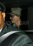 Johnny Depp was social on his way out of a restaurant in LA.