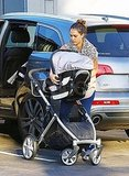 Jessica Alba with a stroller in LA.